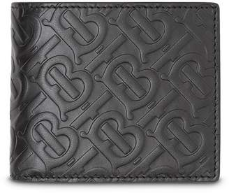6bd7359b440 Burberry Monogram Leather Bifold Wallet with ID Card Case