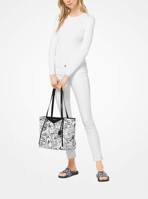 MICHAEL Michael Kors Whitney Large Graffiti Leather Tote