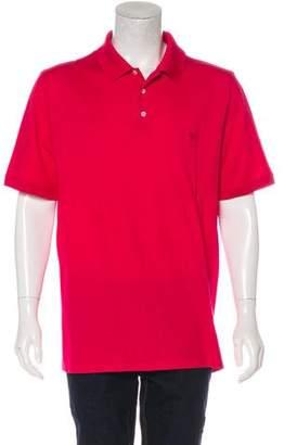 Louis Vuitton Logo-Embroidered Piqué Polo Shirt
