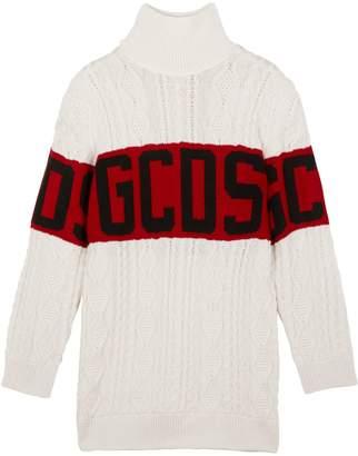 GCDS New Logo Wool-Blend Sweater Dress