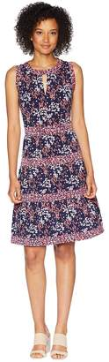 MICHAEL Michael Kors Blooms Border Tier Dress Women's Dress