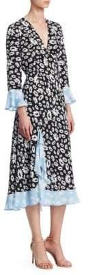 Rixo Skylar Floral Wrap Dress