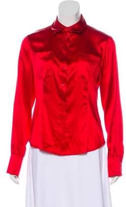 Yansi Fugel Button-Up Silk Top