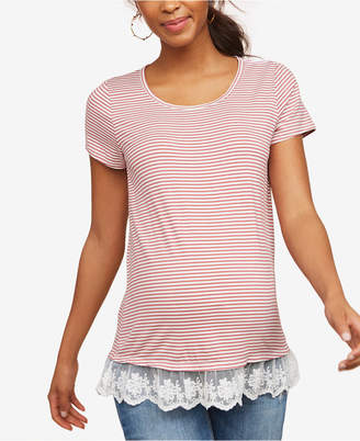Collective Concepts Maternity Lace-Trim Jersey T-Shirt