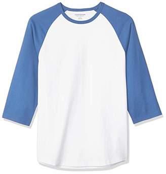 Amazon Essentials Men's Regular-Fit 3/4 Sleeve Baseball T-Shirt