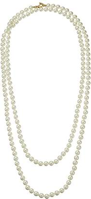 Kenneth Jay Lane 60 8 mm Cultura Pearl and Gold Toggle Clasp Necklace Necklace
