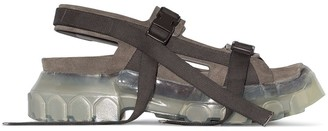 Rick Owens grey Tractor suede sandals