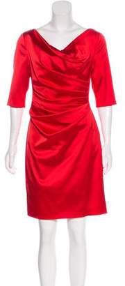 Talbot Runhof Ruched Mini Dress