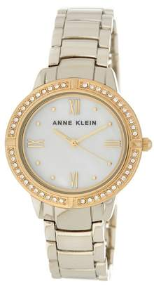 Anne Klein Women's Embellished Silver Bracelet Watch