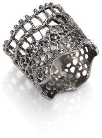 Aurelie Bidermann Vintage Lace Ring/Silvertone