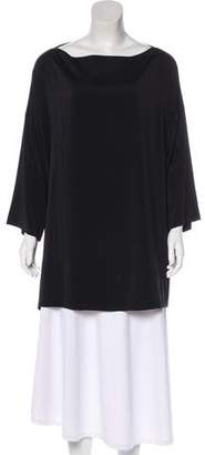 Brunello Cucinelli Monili-Trimmed Silk Top
