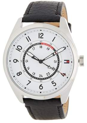 Tommy Hilfiger Men's Dylan Casual Leather Strap Watch, 44mm