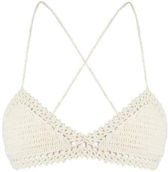 She Made Me Essential crochet triangle bikini top