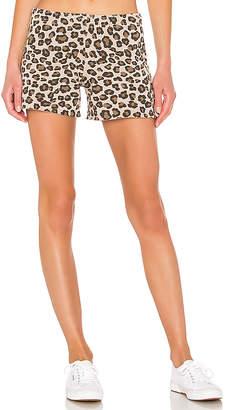 Monrow Leopard Elastic Waist Shorts
