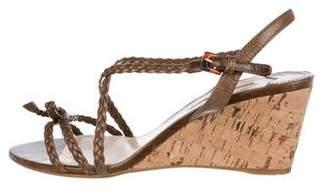 Prada Sport Woven Wedge Sandals