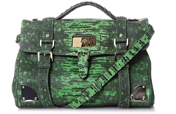 Mulberry Lizard-print travel day bag