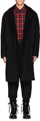 Neil Barrett Men's Brushed Wool-Blend Melton Cocoon Topcoat