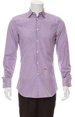 DSQUARED2 French Cuff Striped Shirt