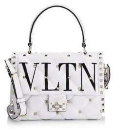 Valentino Quilted Leather VLTN Shoulder Bag