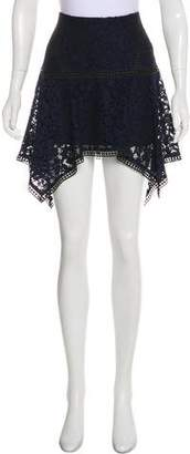 Veronica Beard Lace Asymmetrical Knee-Length Skirt w/ Tags