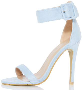 Quiz Light Blue Ankle Buckle Sandals
