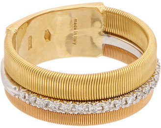 Marco Bicego Masai 18K Tri-Tone .13 Ct. Tw. Diamond Ring