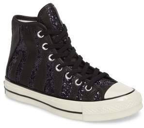 Converse Chuck Taylor(R) All Star(R) 70 Animal Glitter High Top Sneaker