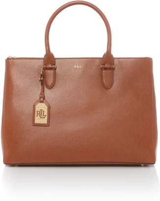 Lauren Ralph Lauren Newbury double zipper satchel