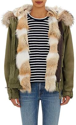 Mr & Mrs Italy Women's Canvas Fur-Trimmed Mini-Parka