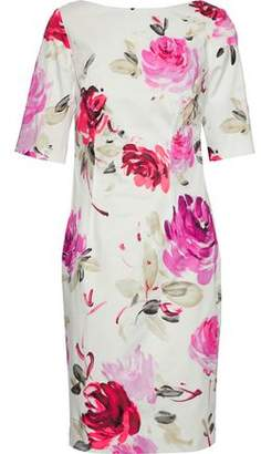 Lela Rose Floral-Print Stretch-Cotton Dress