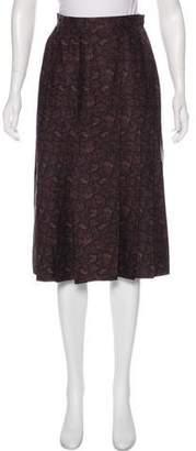 Aquascutum London Printed A-Line Skirt