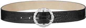 Steve Madden Studded-Buckle Croc-Embossed Belt