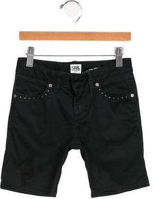 Karl Lagerfeld Girls' Embellished Bermuda Shorts