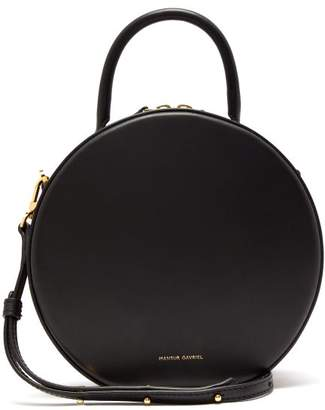 Mansur Gavriel Circle Leather Cross Body Bag - Womens - Black