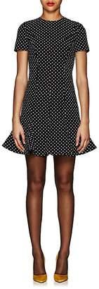 Valentino Women's Dotted Wool-Silk Crepe Dress
