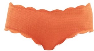 Marysia Swim Spring Scalloped Edge Bikini Briefs - Womens - Orange