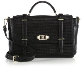Rebecca Minkoff Military Perforated Leather Satchel $395 thestylecure.com