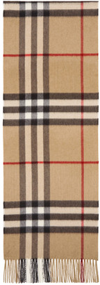 Burberry Tan Cashmere Giant Icon Scarf $435 thestylecure.com