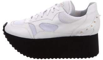 Ruthie Davis Flatform Embellished Sneakers