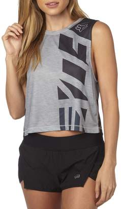 Fox Racing Women's Red, White And True Crop Tank Top-arge