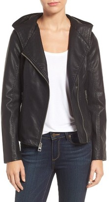 Women's Guess Faux Leather Jacket $168 thestylecure.com