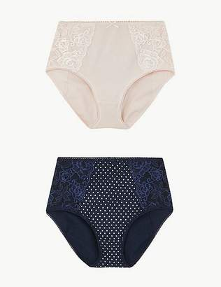 Marks and Spencer 2 Pack Cotton Rich Firm Control Full Briefs