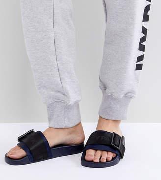 Ivy Park Hi Shine Strap Slider Sandals In Black