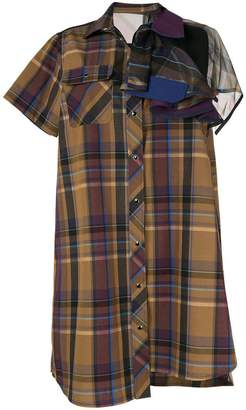 Sacai check dress