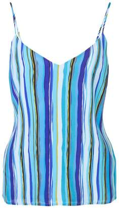 L'Agence striped print top