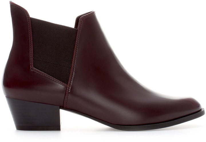 Zara Elastic Ankle Boot With Heel