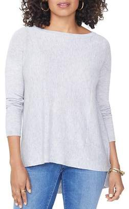 NYDJ Drop Shoulder Split Back Sweater
