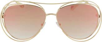 Chloé Carlina Wire Round Sunglasses