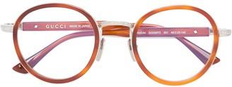 Gucci wide bridge round glasses