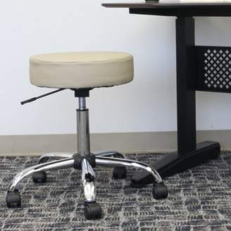 Wrought Studio Soundview Adjustable Stool with Dual Wheel